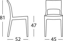 Dimensione sedia ISY ANTISHOCK by Scab