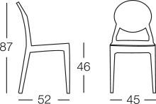 Dimensione sedia IGLOO CHAIR by Scab