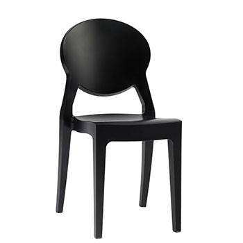 Sedia IGLOO CHAIR Nero by Scab