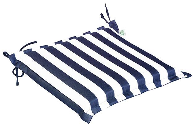 Cuscino per seduta 38x38 cm con volant ONDA BLU