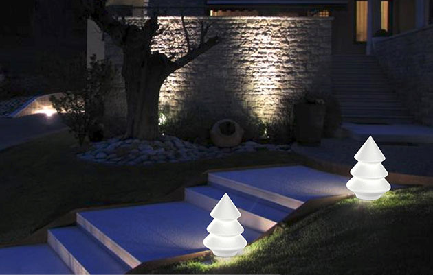 Lampada da Terra ALBA LIGHT TREE In&Out - luce LED