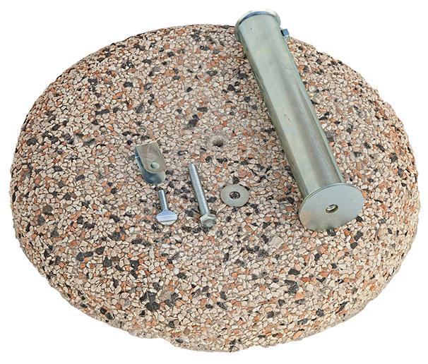 Base rotonda in graniglia per ombrellone