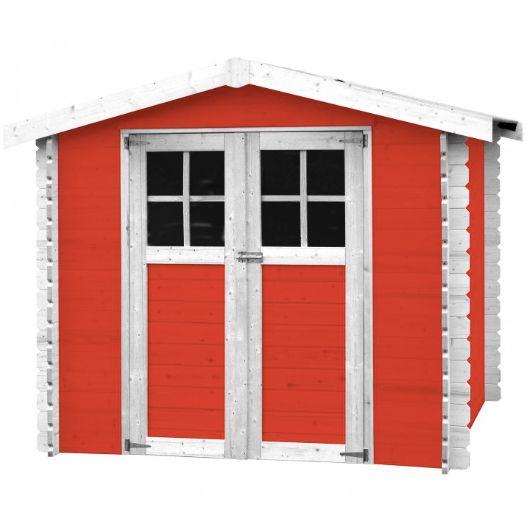 casetta in legno massello alexandra colore rosso