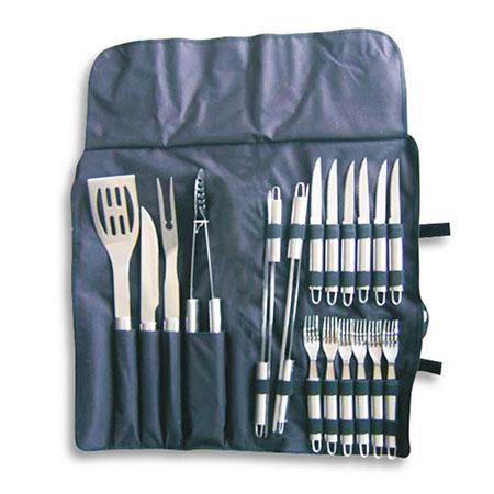 Set 20 accessori per barbecue in acciaio