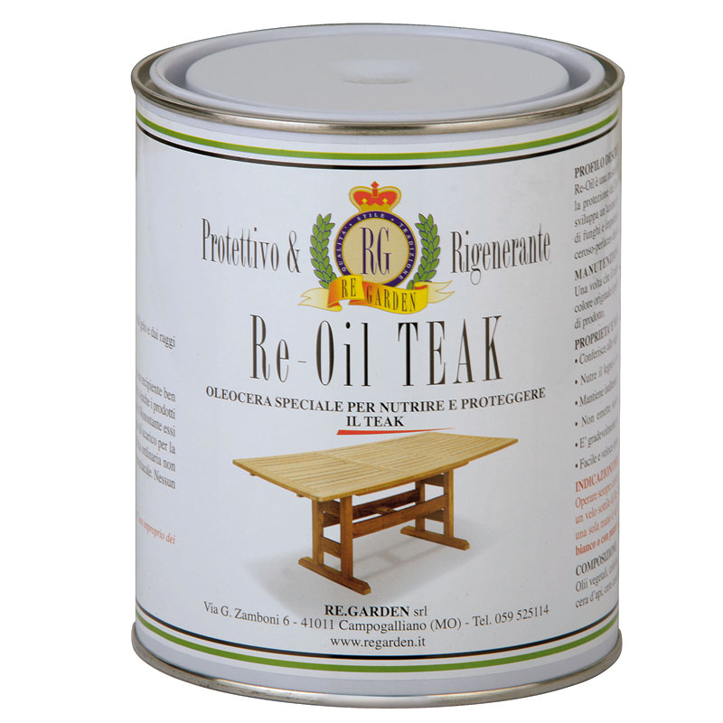 Olio per legno di teak Re-Oil by Regarden