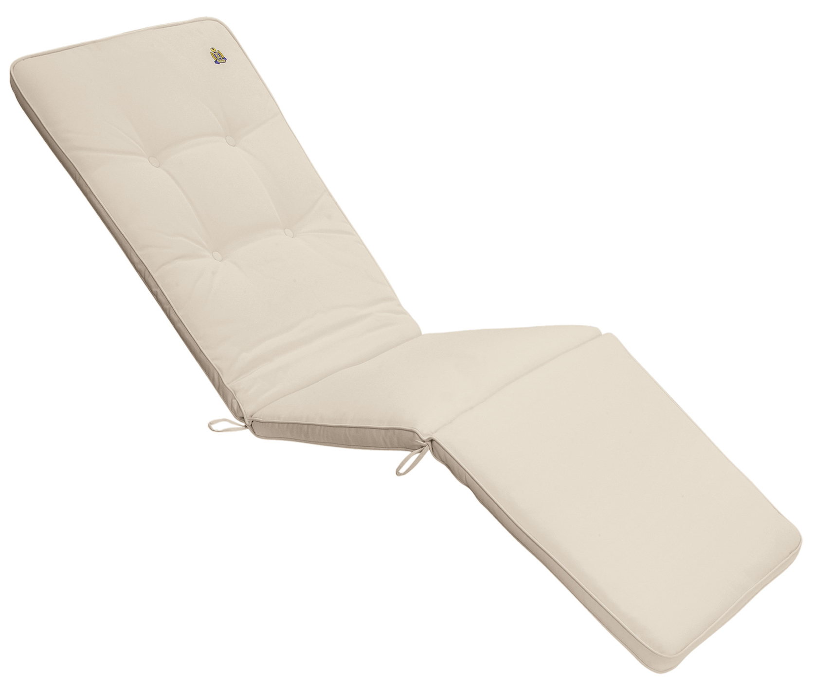 Cuscino da esterno per deckchair con bordino decorativo