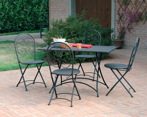 Sedie In Ferro Battuto Pieghevoli : Sedia pieghevole in ferro orta arredo giardino