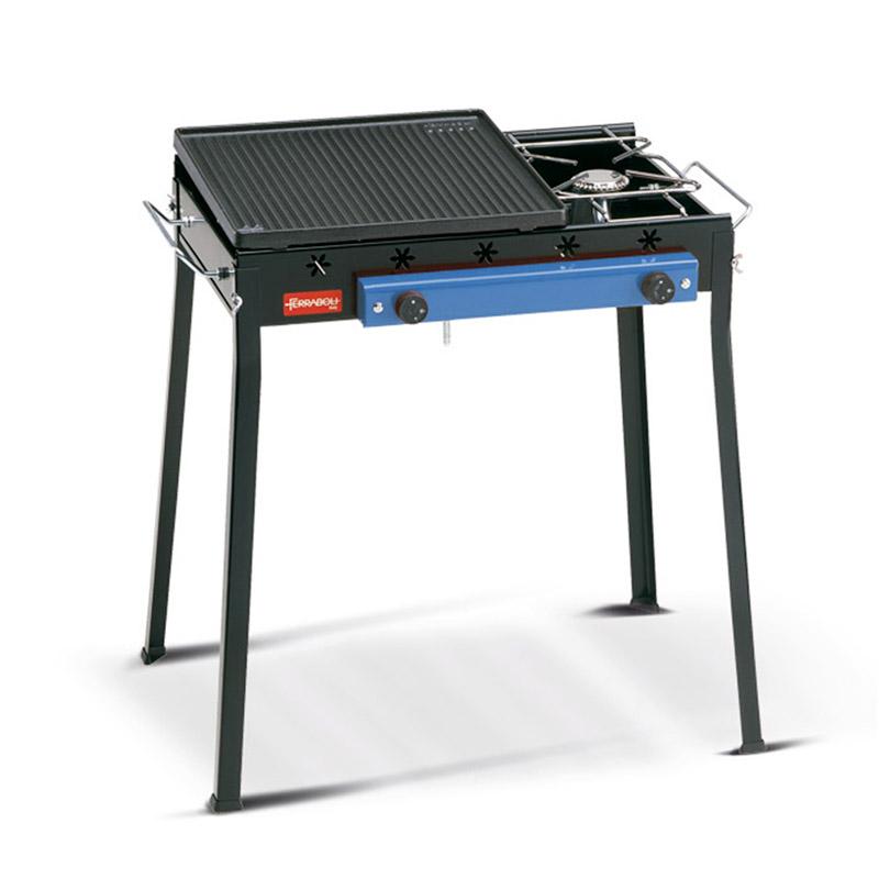 Barbecue a gas Ghisa combinato