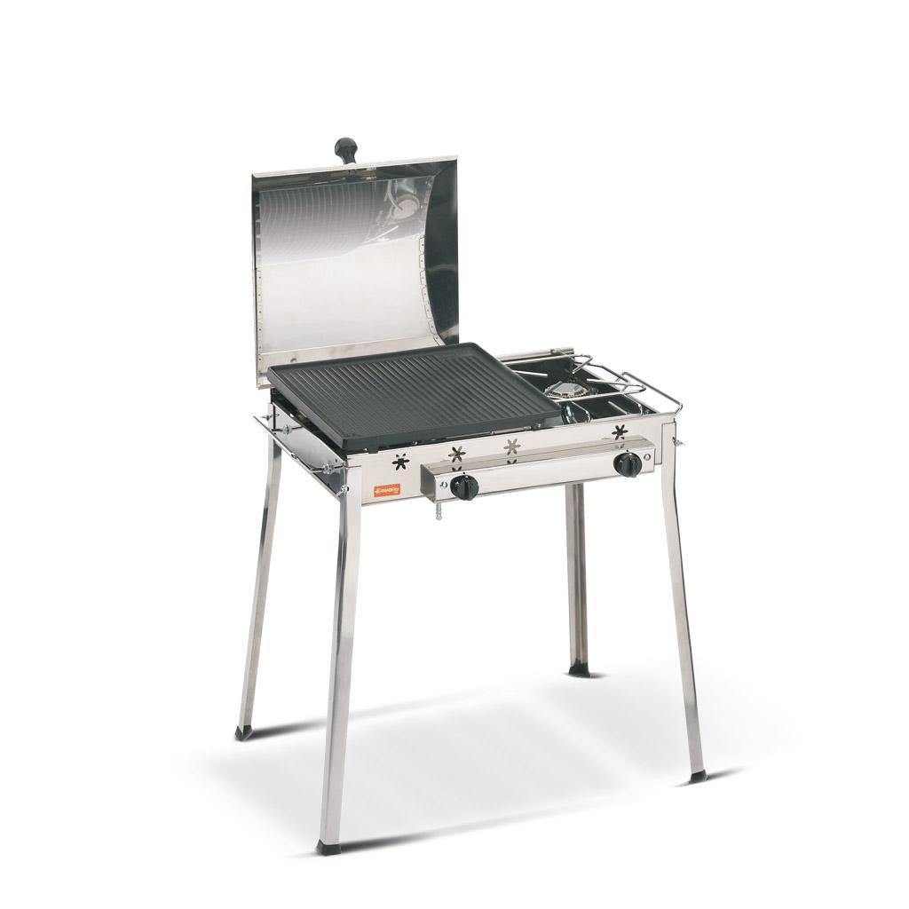 Barbecue a gas Ghisa Combinato inox
