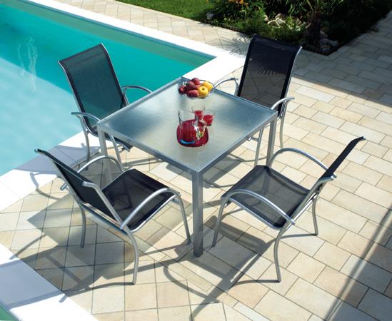 Tavolo amalfi in alluminio da esterno arredo for Arredo giardino alluminio