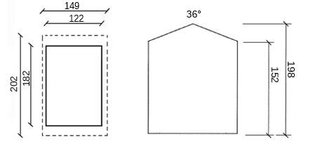 dimensioni casetta in legno loira