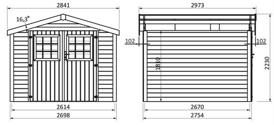 dimensioni casetta in legno Acero