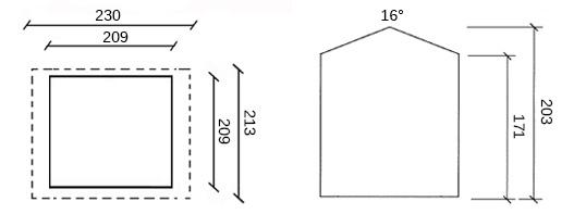 dimensioni casetta in legno alexandra