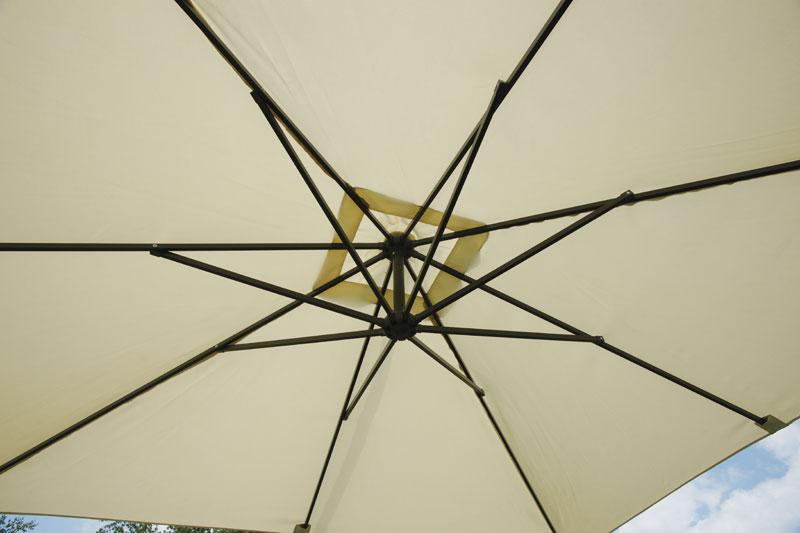 Ombrellone FIRENZE quadrato 2,7x2,7 mt in alluminio con palo laterale