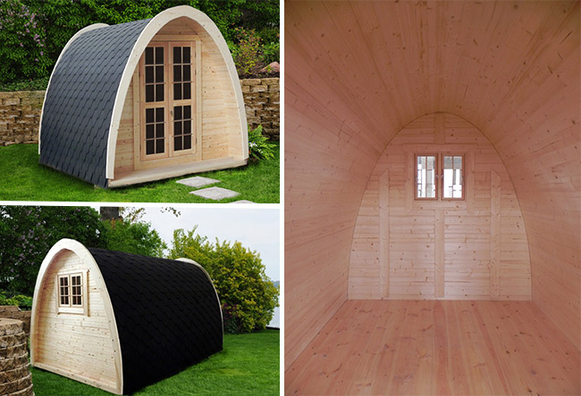 casetta igloo da giardino in legno