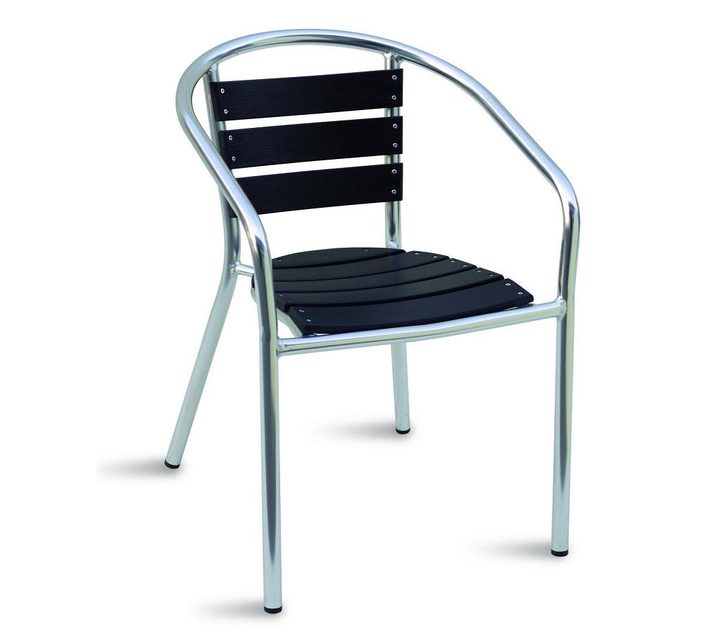 Sedia in alluminio e resin wood da esterno arredo for Arredo giardino alluminio
