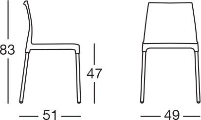 Dimensioni Sedia CHLOE CHAIR by Scab