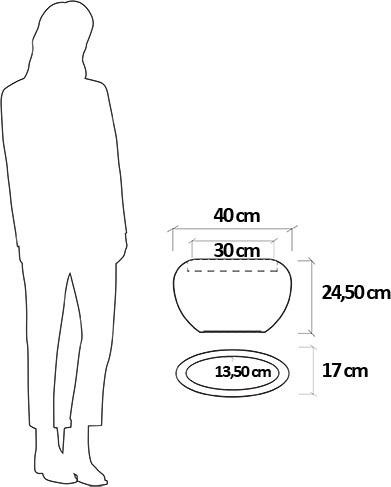 Dimensioni Vaso da appendere in resina VERBANA