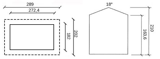 disegno dimensioni casetta in legno camilla