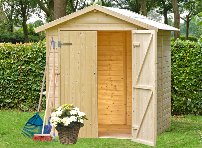 Casetta Giardino Offerta : Casetta silvia gartenpro in legno per giardino prezzo