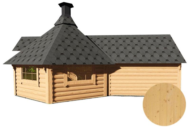 casetta in legno con barbecue e sauna Dione