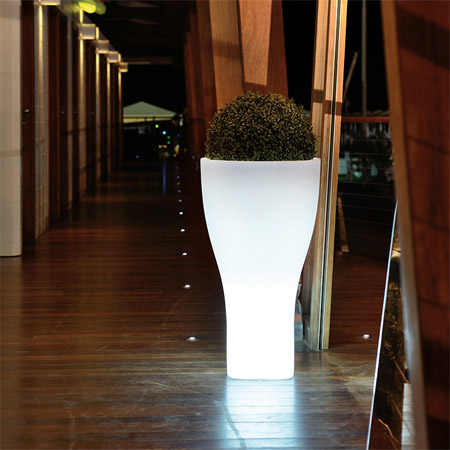 Vaso luminoso da giardino in polietilene DOMUS