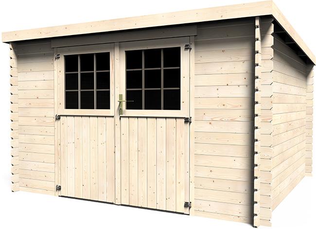 Casetta in legno dafne 3 29 x 3 00 m da esterno arredo for Guaina bituminosa leroy merlin