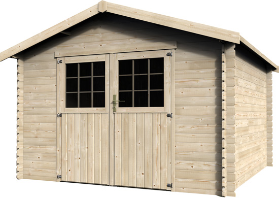 Casetta in legno di abete Demi