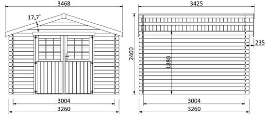 dimensioni casetta in legno di abete nord Demi