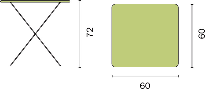 Dimensioni Tavolo Set bistrò da giardino in ferro QUADRO