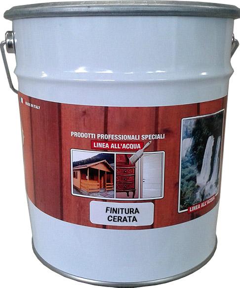 Finitura cerata all'acqua per legno da interno ed esterno