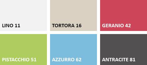 Lista colori sedia GINEVRA