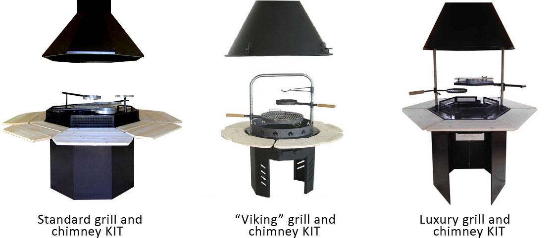 Barbecue per casetta in legno