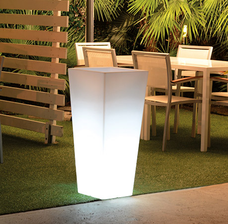 Vaso luminoso da giardino in polietilene HYDRUS