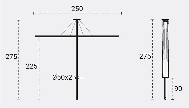 ombrellone infina quadrato umbrosa