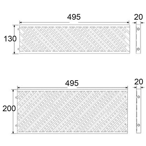 Disegni tecnici griglia per piscina in due dimensioni