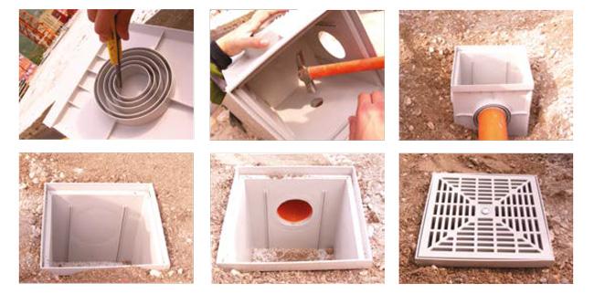 Installazione pozzetto di drenaggio PLUS