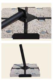 Ombrellone JOLLY in alluminio, telescopico