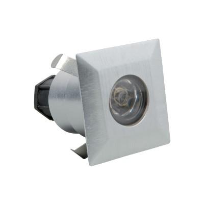 Lampada a incasso da muro in inox MICHELANGELO a LED quadrata