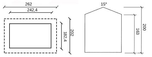 disegno dimensioni casetta in legno mosa