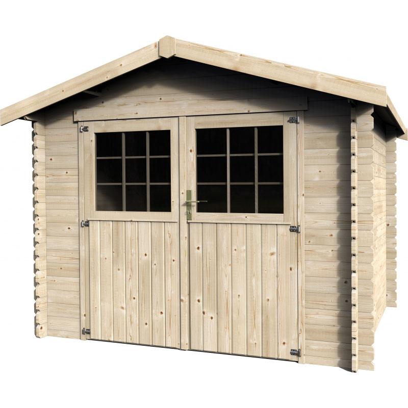 Casetta in legno nora da esterno 2 89 x 2 50 x h 2 29 m for Guaina bituminosa leroy merlin