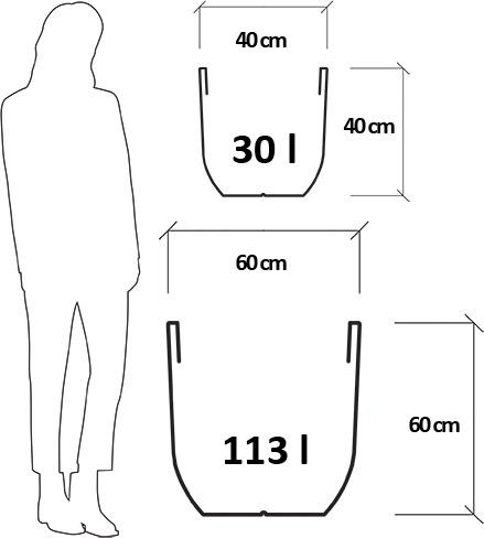 Dimensioni Vaso da esterno in resina ANNICA