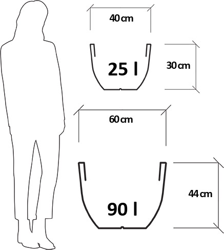 Dimensioni Vaso da esterno in resina VERONICA