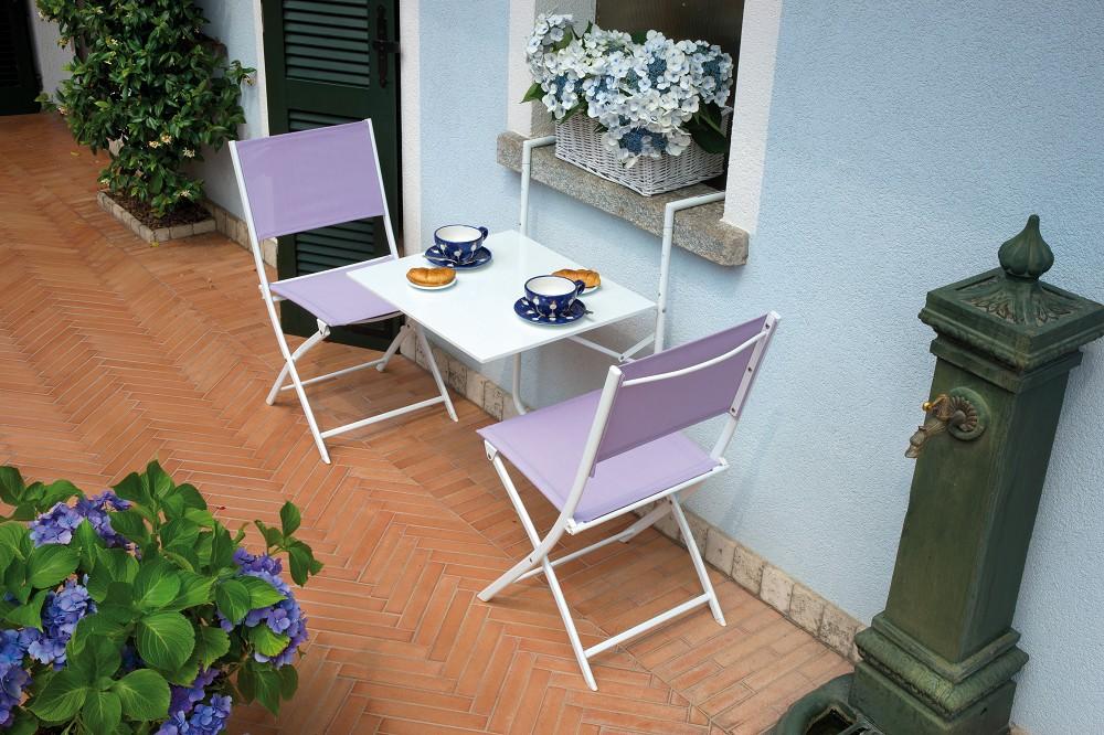 Tavolino da esterno ringhiera in ferro pieghevole vari colori arredo - Tavolini da esterno ikea ...