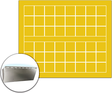Pannello collato giallo di ricambio per trappola GERLA 215