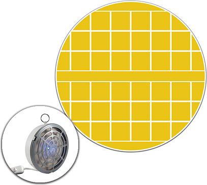 Pannello collato giallo di ricambio per trappola SCIGULA