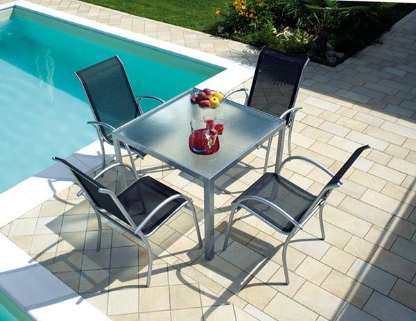 Tavolo Esterno Teak Amalfi : Tavolo da esterno in alluminio amalfi arredo giardino