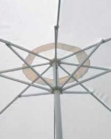 Ombrellone MANILA rotondo Ø 3 mt in alluminio con apertura a manovella