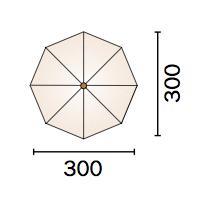 Dimensioni ombrellone MARSIGLIA in alluminio automatico con luci