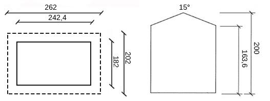 disegno dimensioni casetta in legno senna